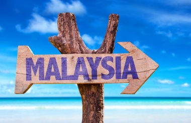 Malaysia  wooden sign