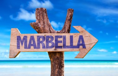 Marbella wooden sign