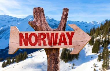 Norway wooden sign