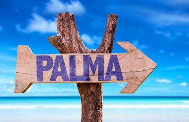 Palma wooden sign