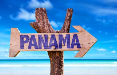 Panama wooden sign