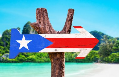 Puerto Rico Flag wooden sign
