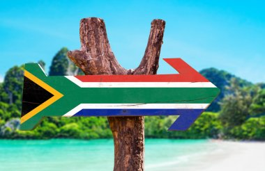 South Africa Flag sign