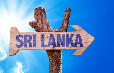 Sri Lanka wooden sign