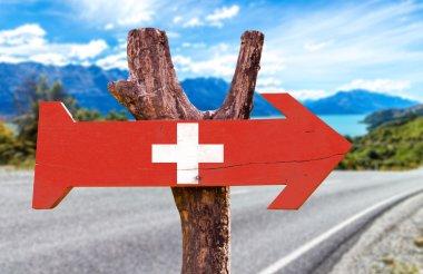 Switzerland wooden sign