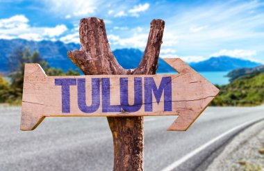 Tulum wooden sign
