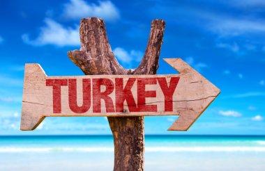 Turkey wooden sign
