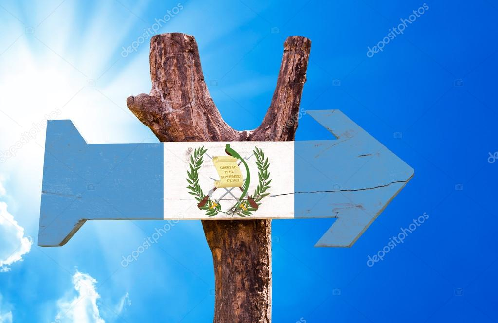 Guatemala Flag wooden sign