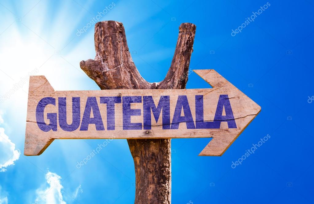 Guatemala wooden sign