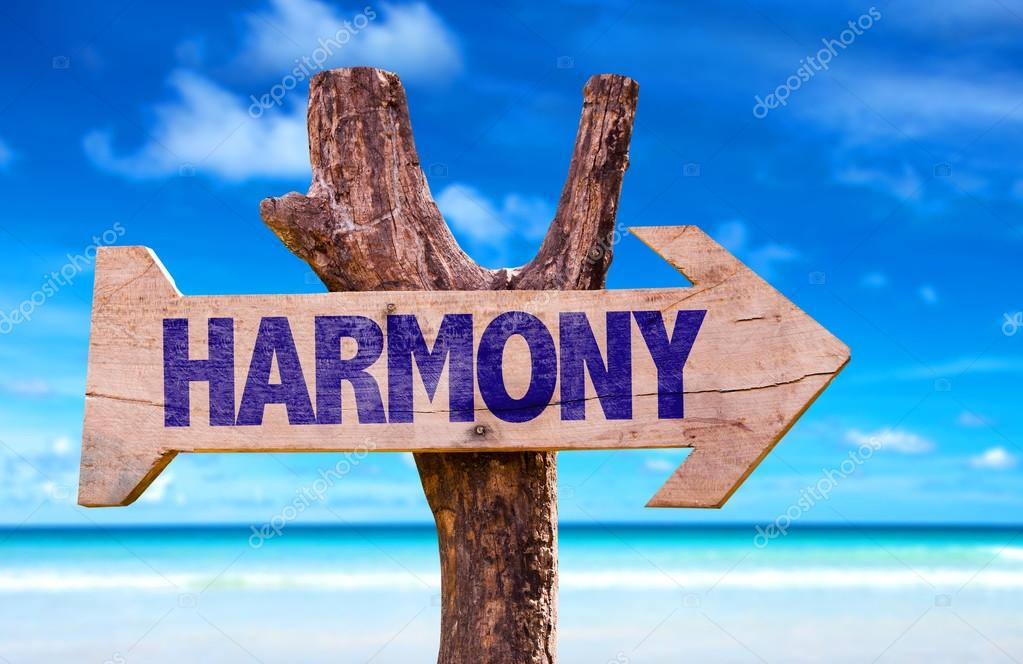 Harmony wooden sign