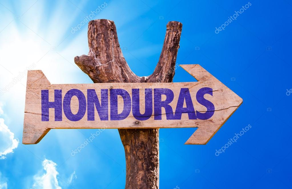 Honduras wooden sign