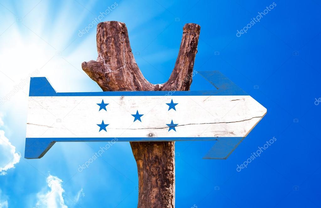 Honduras Flag wooden sign