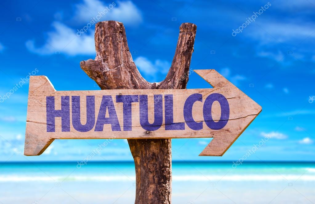Huatulco wooden sign