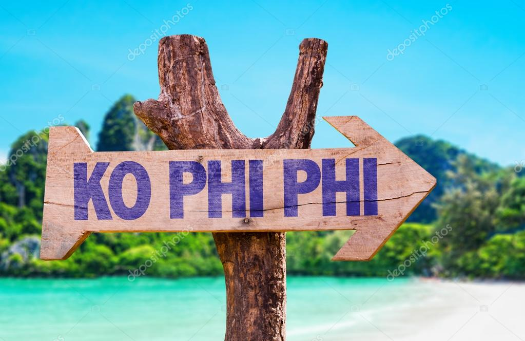 Ko Phi Phi wooden sign