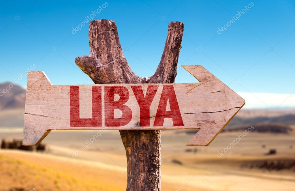 Libya wooden sign