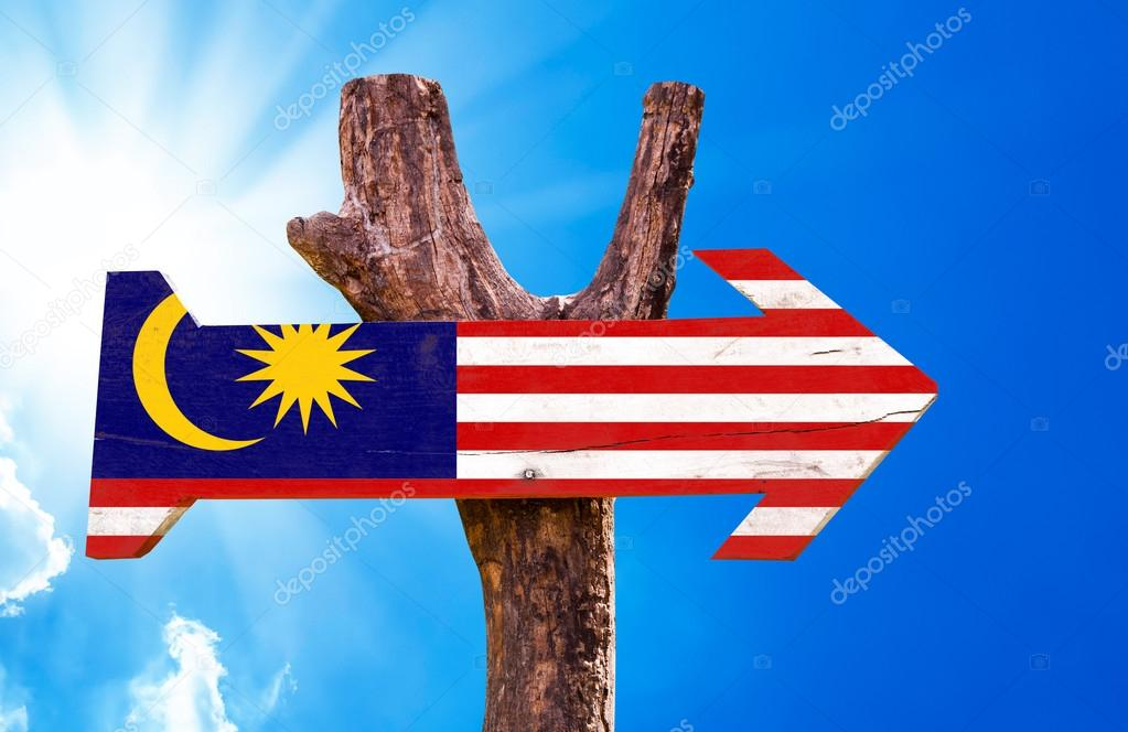 Malaysia Flag wooden sign