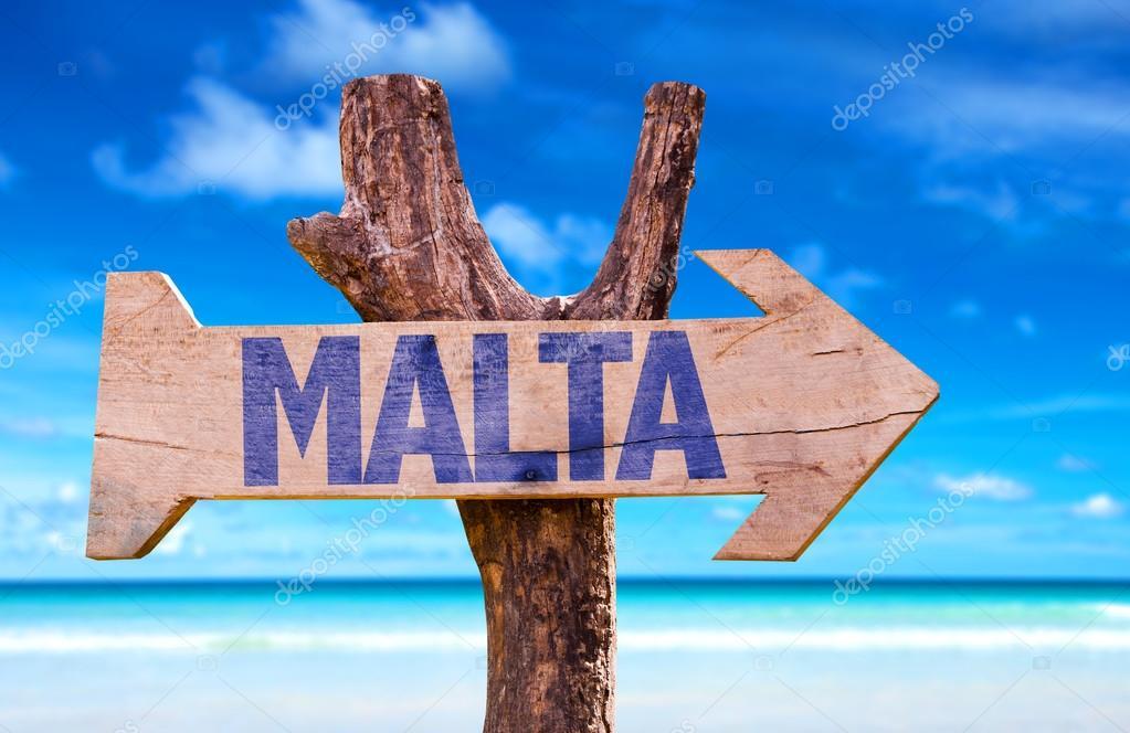 Malta  wooden sign
