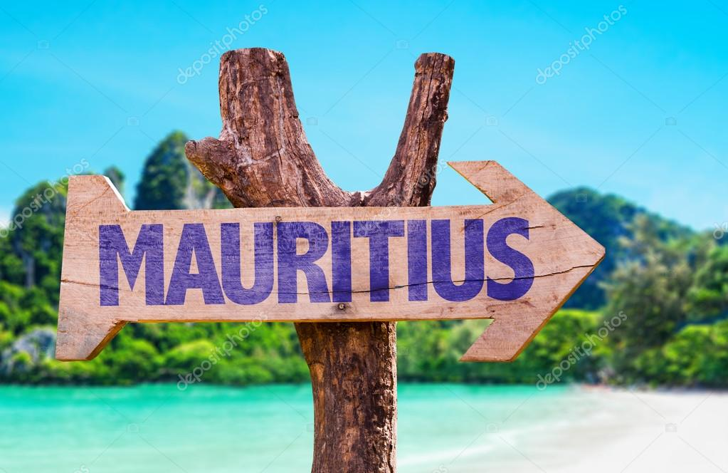 Mauritius wooden sign