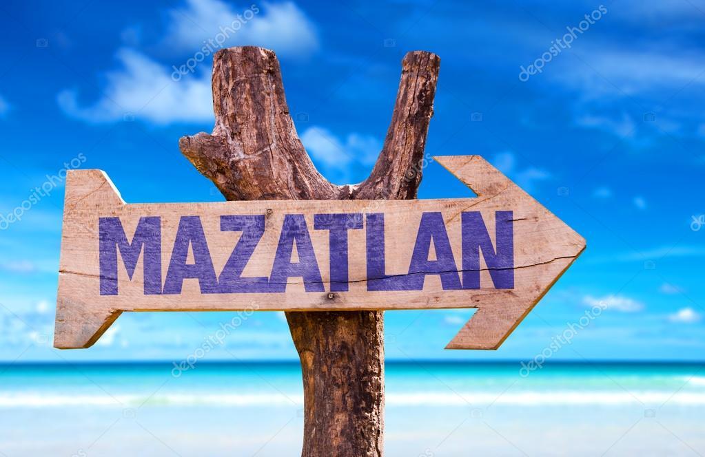 Mazatlan wooden sign