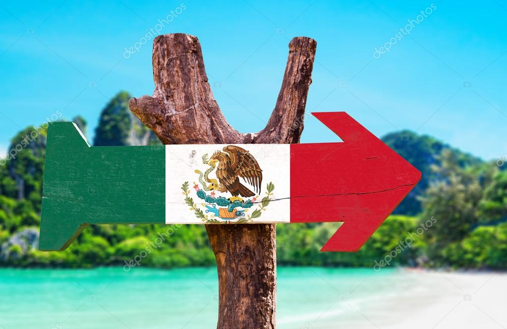 Mexico Flag wooden sign