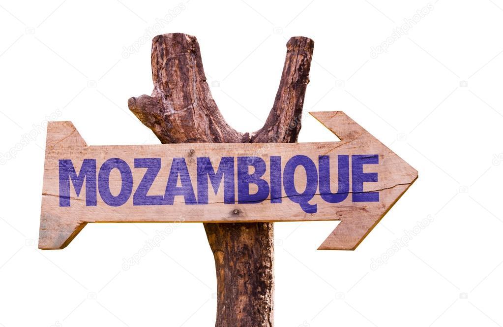 Mozambique wooden sign
