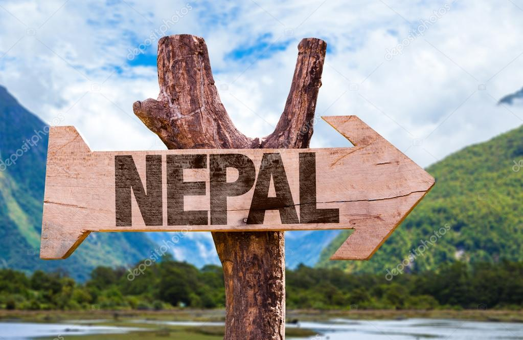 Nepal wooden sign