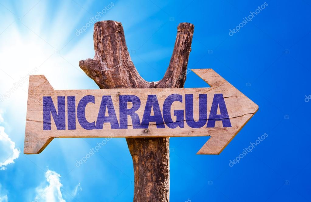 Nicaragua wooden sign