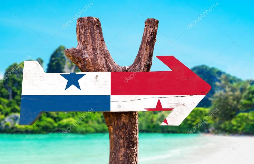 Panama Flag wooden sign
