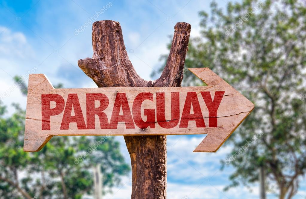Paraguay wooden sign