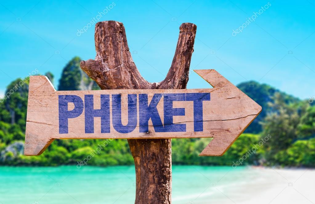 Phuket wooden sign
