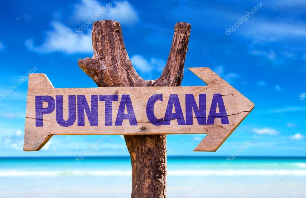 Punta Cana wooden sign