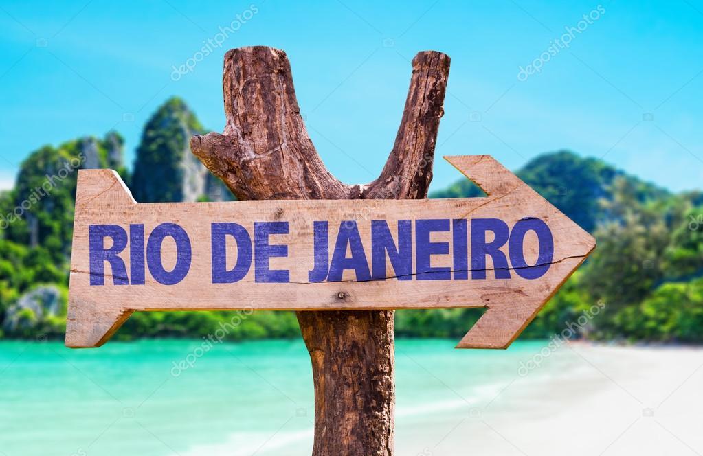 Rio de Janeiro wooden sign