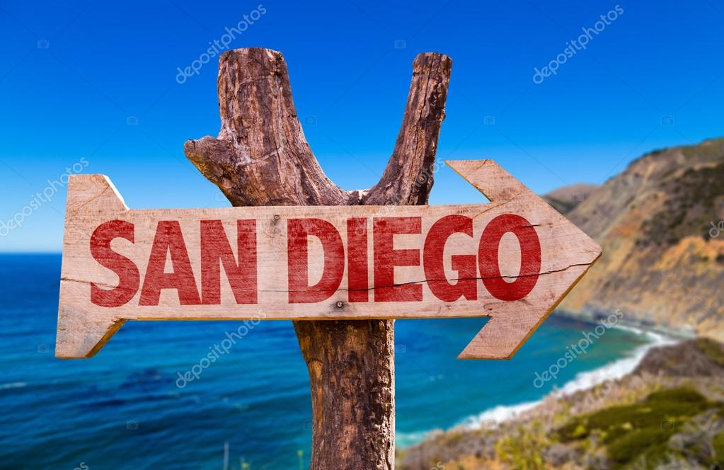 San Diego wooden sign
