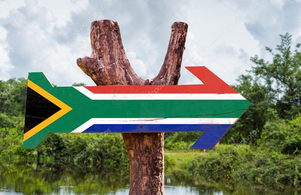 South Africa Flag wooden sign