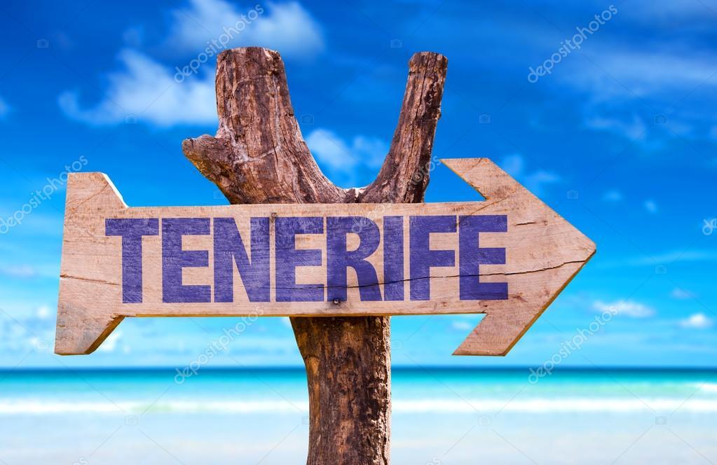 Tenerife wooden sign