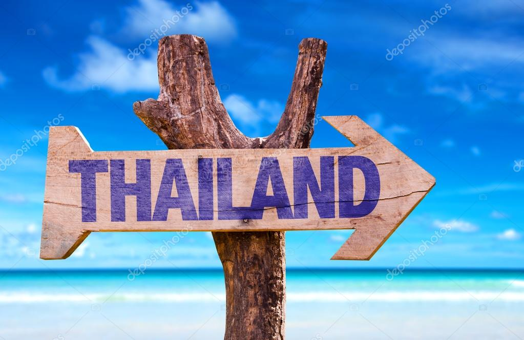 Thailand wooden sign