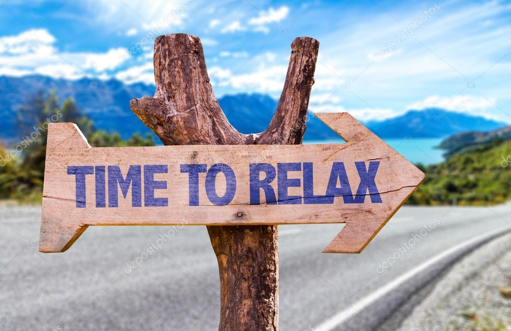 Time to Relax wooden sign
