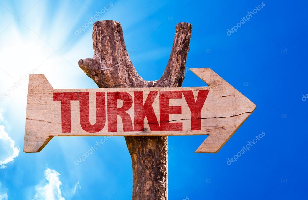 Turkey wooden sign