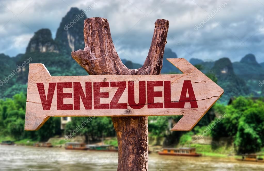 Venezuela wooden sign