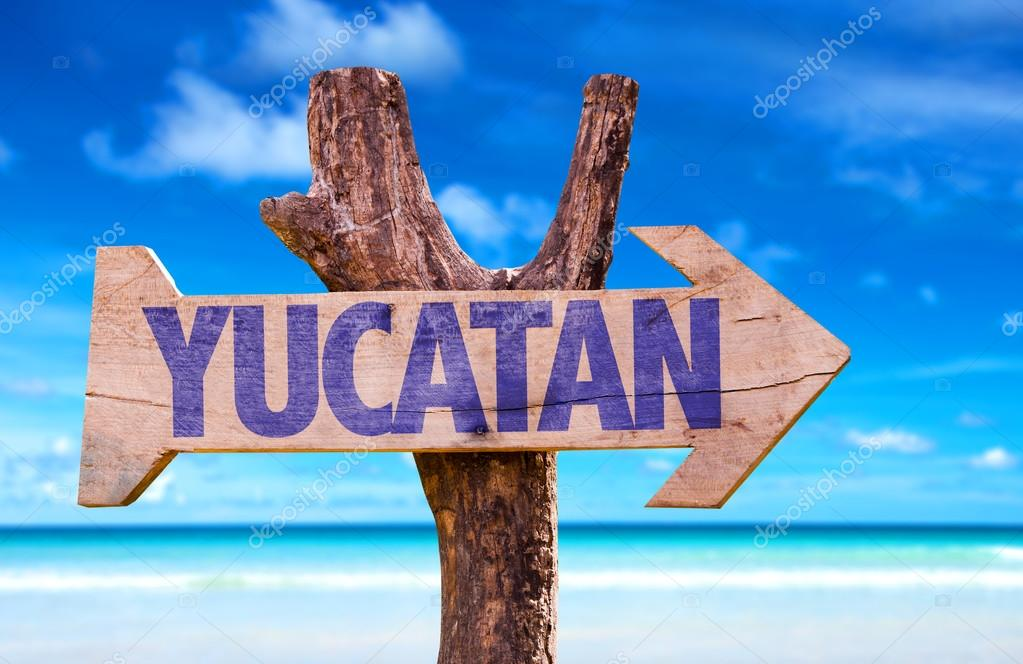 Yucatan wooden sign