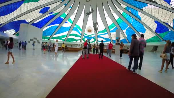 Inside of Cathedral of Brasilia