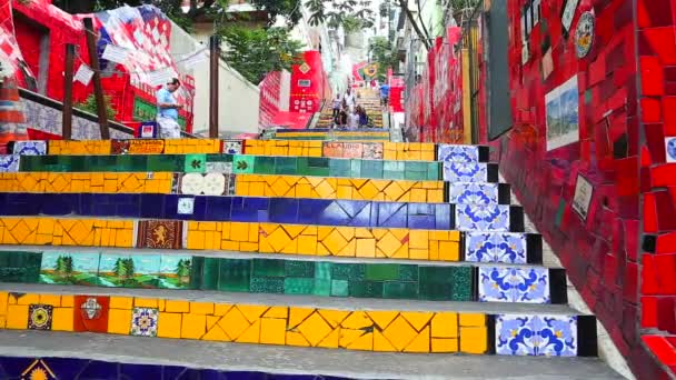 Escadaria Selaron, world-famous work