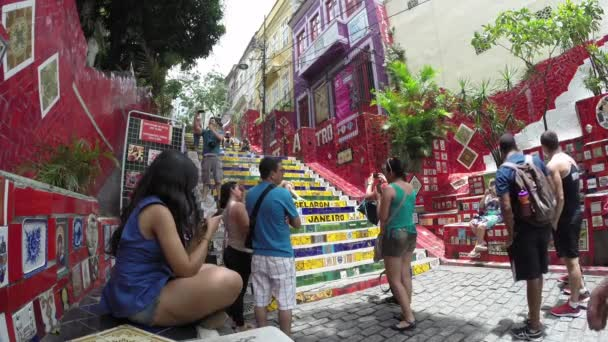 Escadaria Selaron, world-famous work