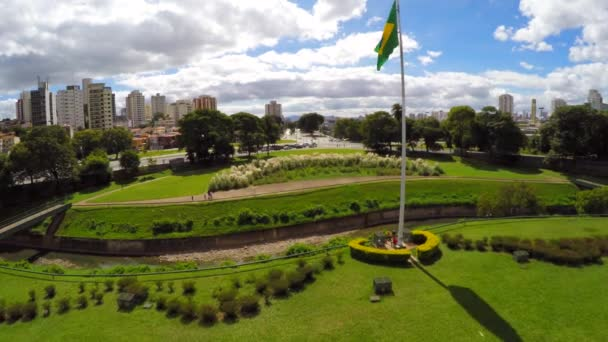 Brazil flag waving in the wind