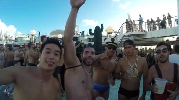 Friends Celebrate in Carnaval Cruise Ship