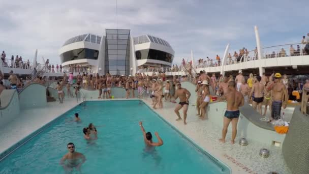 People Celebrate in Carnaval Cruise Ship