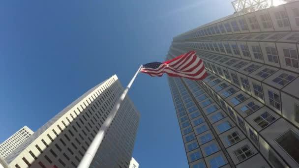 Bandiera americana sventolante