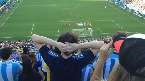 Argentína-rajongók ünnepelni a győzelmet