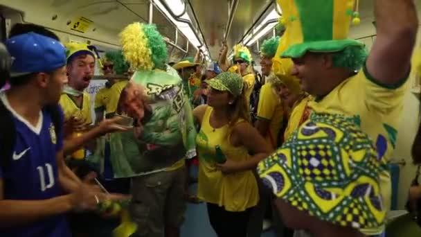Fans Celebrate the Brazil World Cup