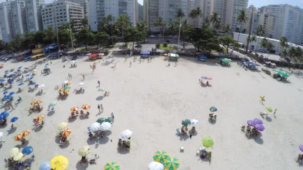 Crowd at Beach on a Summer Day